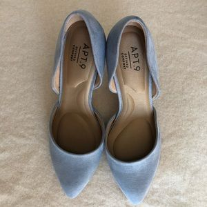 Apt. 9 Light Blue Velvet High Heel Size 6